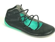 "Camper ""Nina"" Peu Circuit Lace Up Shoe Women's Ballet Flat Black Size 39/9 US"