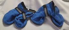 Dog Booties water/ Snow resistant grip bottom adjustable Blue size Medium