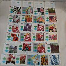 50 Vintage Unused Garden Flower Seed Packets Envelopes Farm Decor Crafts