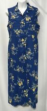 Erika Collection Size S Full Button Front Sleeveless Rayon Floral Dress