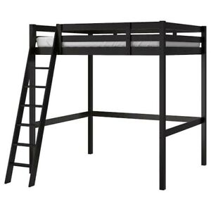 Double Loft Bed With Ladder and double mattress - Ikea Stora