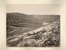 Photo Attr. Félix Bonfils Albuminé Vasques de Salomon Béthléem 1870
