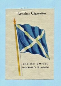 KENSITAS silk Cigarette Card The Cross of St. Andrew Flags of the British Empire