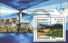 Nicaragua Blocco 164 (completa Edizione) usato 1985 ESPAMER `85