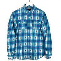 🔥Men's Rocawear Classic Plaid Flannel Shirt Size Medium button front pockets