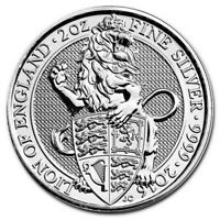 FIRST IN THE SERIES!! 2oz UK Queen Beast .999 Fine Silver *OEM SCREW-IN CAPSULE*