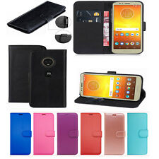 For Motorola Moto G6 E4 G5 G6 Plus PU Leather Wallet Magnetic Phone Case Cover