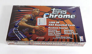 1998-99 Topps Chrome Basketball Box Sealed (24 Packs)