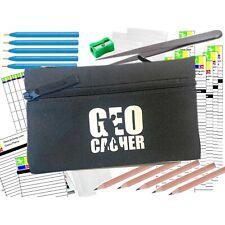 Geocaching Essentials Kit with Log Sheets, Bags, Pens, Pencils & Tweezers