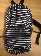 ARMANI JEANS Foldaway BACKPACK/ RUCKSACK, Black/White Stripes, New with tags