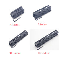 Free Float Quad Rail Mount System Handguard 4''7''10''12''15'' Length / End Cap