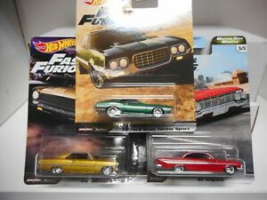 REAL RIDERS FAST & FURIOUS MOTOR CITY MUSCLE HOT WHEELS 1:64