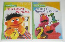 Kid DVD Lot - Sesame Street The Great Numbers Game & 123 Count with Me (New)