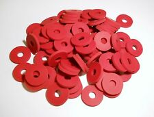 GROLSCH GASKETS 100 RED RUBBER NEW TYPE FOR EZ CAP FLIP TOP BEER OR SODA BOTTLES