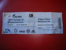 10/11 Ticket FC Schalke 04 - BVB Dortmund Eintrittskarte Sammler S04 Derby