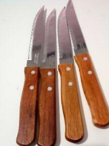 Cuchillo de mesa Albacete 20 cms. Acero inoxidable y mango de madera - 1 UND