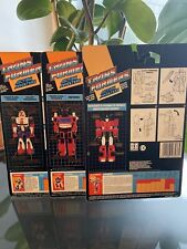 Transformers G1 Action Masters Cardback Lot Rare Inferno Sideswipe Kick Off