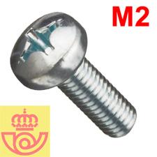 (lote 20pcs) Tornillo acero M2 10mm cabeza Philips (Arduino, prototipos, PCB)