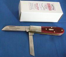 Schatt & Morgan  2-Blade Barlow Pocket Knife, Maroon Bone, #69