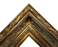 "5.5"" WIDE Dark Bronze Antique photo family Oil Painting Wood Picture Frame 668D"