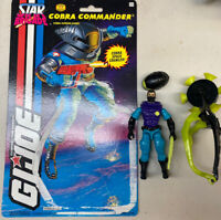 Vintage GI Joe ARAH 1994 Star Brigade Cobra Commander Complete W/Full Cardback