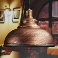 E27 29CM LAMPADA INDUSTRIALE DA SOFFITTO A SOSPENSIONE LAMPADARIO VINTAGE RETRO