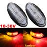 2x 12V24V Red&Amber LED Side Marker Clearance Tail Light Lamp Trailer Truck