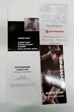 Schwinn Airdyne Air-Dyne Owners Manuel , Hang Tag , Assembly Instructions