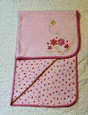 Carters Pink Flowers BABY BLANKET lovey security butterfly