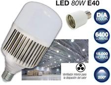 Bombilla LED de 80W con adaptador rosca E40 a E27