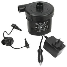 Highlander Whirlwind Dual Powered Mains Car Electric Inflate Deflate Air Pump