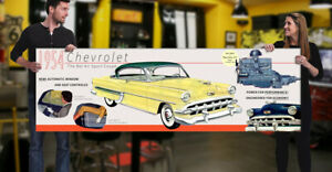 1954 Chevrolet Dealer Garage Banner Bel Air 2 Door Sedan Sport Coupe