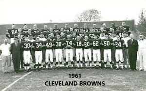 1961 CLEVELAND BROWNS  8X10 TEAM PHOTO FOOTBALL PICTURE NFL