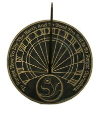 Rome Ind 2325 Brass Sundial Vintage 2000 To Forget How To Dig The Earth
