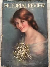Vintage~Antique Pictorial Review Magazine June 1915 Art Cover by Maria Antony