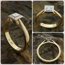 Wedding Ring 14k Yellow Gold 2Ct White Princess Cut Moissanite Engagement