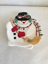 Fritz And Floyd Frosty The Snowman Plate Santa Cookies Christmas