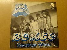 "SINGLE 7"" / MR. BIG: ROMEO, GOODBYE WORLD (EMI, BELGIUM)"