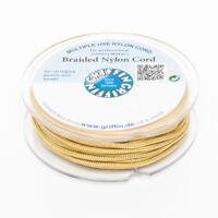 Geflochtene Nylonschnur 1mm dunkelgelb 25m Spule Schmuckband für Shamballa
