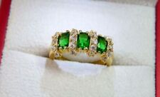 Emerald Beauty Oval Costume Rings