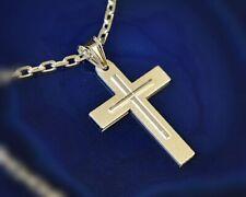 Kreuz Silber 925 Kettenanhänger Sterlingsilber matt  925 su48