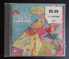 THE LITTLE MERMAID Disney Print Studio Software PC CD-ROM Windows ARIEL Sealed