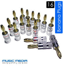 16 Nakamichi Gold Plated Speaker Connectors Hi-fi Banana Plugs High End Quality