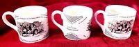 Lot of 3 Ben Franklin Poor Richard's Maxim Ceramic Mugs 6 Oz. England Mottahedeh