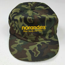 Vintage 80s Norandex Camo Snapback Camouflage Trucker Hat Retro Baseball Cap