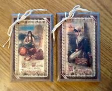 5 Wooden Fall Ornaments/THANKSGIVING HangTags/Fall ORNIES HandCrafted  SET@1