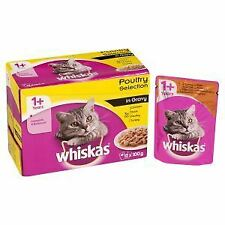 Whiskas 1+ Cat Pouch Poultry Selection in Gravy (12Pk) - 19275