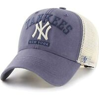 '47 Brand New York Yankees MVP Brayman Trucker Snapback Hat, Adjustable Blue Cap