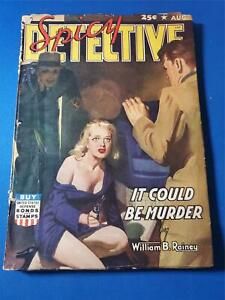 Spicy Detective Vol. 17 #4 Aug 1942 White Pages Pulp GD+