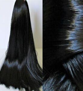 EBONY Black Synatra Fiber Doll Hair for Custom Reroots